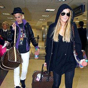 Lindsay Lohan Samantha Ronson Airport Cute